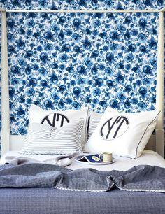 Veronica Removable Wallpaper - Blue - Wallshoppe