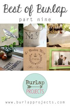 Best of Burlap DIY Projects Part Nine