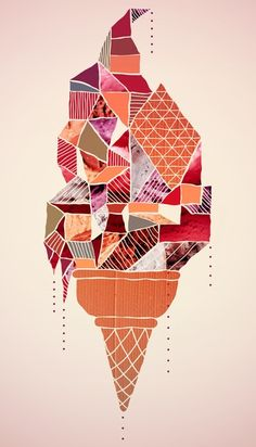 Ice-cream Art Print by Hugo Diaz Romero
