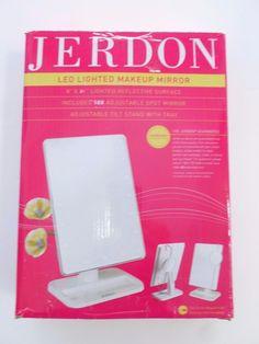 Jerdon JS811W E 8-Inch by 11-Inch Rectangular LED Lighted Vanity Mirror 10x #Jerdon