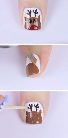 Short Rudolph Click Pic for 20 Easy Christmas Nails Art Designs Winter Easy Nails Easy Nails, Easy Nail Art, Simple Nails, Fun Nails, Christmas Nail Art Designs, Winter Nail Designs, Simple Nail Designs, Easy Christmas Nail Art, Christmas Images