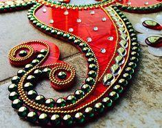 Kundan Rangoli Bollywood inspired Acrylic floor art by Nirman