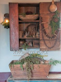 We have some special gifts for the primitive, country lover in your life. We have some special gifts for the primitive, country lover in your life. Please visit our secure website to place your order. Primitive Homes, Primitive Kunst, Primitive Dining Rooms, Primitive Bedroom, Primitive Furniture, Primitive Antiques, Primitive Decor, Vintage Farmhouse Decor, Country Farmhouse Decor