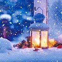 2122 Servilleta decorada Navidad