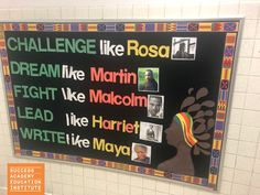 Black History Month Bulletin Board | Celebrate Black History Month and honor great African-American heroes like Rosa Parks, Martin Luther King Jr., and Maya Angelou, with this inspirational bulletin board. From the teachers of Success Academy Charter Schools. #BlackHistoryMonth #BulletinBoard
