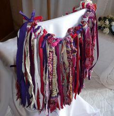 Fabric Garland Tribal Skirt Upcycled