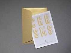 """Postkarten - Weihnachtskarte """"SMS"""" - ein Designerstück von HEY-LUIGI bei DaWanda"""