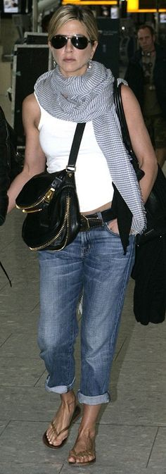 Jennifer casual style...unusual purse
