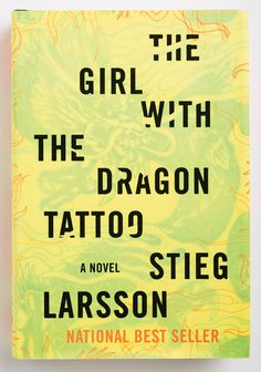 The Girl with the Dragon Tattoo by Stieg Larsson.  Published by Knopf in 2008.  Cover art by Peter Mendelsund.