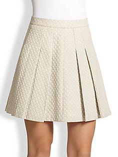 10 Crosby Derek Lam - Cotton Jacquard Pleated Skirt