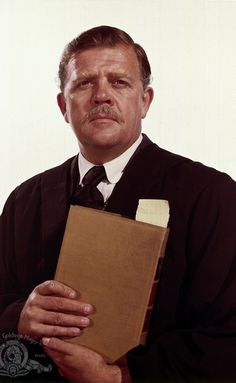 """Actor Pat Hingle was born  7-19 in 1924. He appeared on well over 100 films and TV programs through his years, typically as a character actor. He's shown here in a role he played in Clint Eastwood's """"Hang 'Em High.'"""" Hingle passed in 2009."""