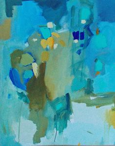 Giclee print abstract painting Island