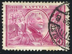 https://flic.kr/p/kJUthm | Latvia 0005 m | LATVIA - CIRCA 1938: stamp printed by Latvia, shows President Karlis Ulmanis, circa 1938