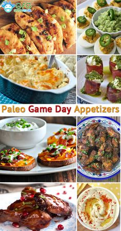 Paleo game day appetizers (gluten free and low carb paleo & Paleo Appetizers, Game Day Appetizers, Appetizer Recipes, Appetizer Ideas, Primal Recipes, Real Food Recipes, Cooking Recipes, Clean Eating Vegetarian, Healthy Eating