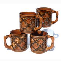 Tunisian ceramic mugs- Honey Medium Coffee Mug- Le Souk