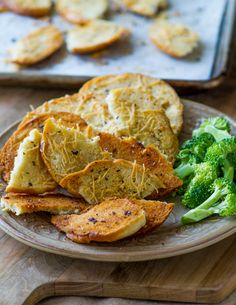 Baked Bagel Chips Recipe with Garlic, Herbs and Parmesan Cheese from BestRecipeBox.com  @Best Recipe Box