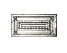 CEILING PANEL: 2711 PRICE: $15.00 HEIGHT: 12 in. LENGTH: 24 in. WFNorman. (Option for panel C, rectangle).