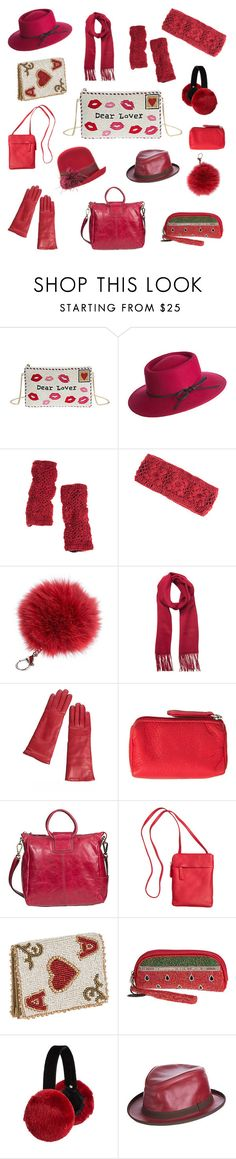 """""""Valentine Giftables! www.overland.com"""" by shopoverland ❤ liked on Polyvore featuring Mary Frances Accessories, Overland Sheepskin Co. and HOBO"""