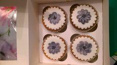 Beschilderde cupcakes
