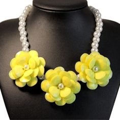 Hot Selling Fashion Mixed Style Chain Crystal Flower Bib Big Statement Necklaces | eBay