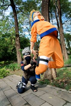 Kakashi Sensei and Naruto Uzumaki || Cosplay