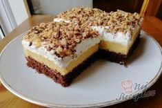 Sweet Desserts, Dessert Recipes, Hungarian Cake, Learn To Cook, Tiramisu, Sweet Tooth, Cheesecake, Deserts, Food And Drink