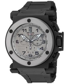 Invicta Men's Swiss Chronograph Coalition Forces Black Ion-Plated Stainless Steel Bracelet Watch 51mm 14515 - Jason Taylor Limited Edition - Men's Watches - Jewelry & Watches - Macy's