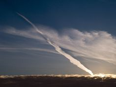 Contrail at Sunset from Bryne in the west of Norway.