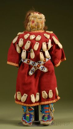 Plains Indian Beaded Hide and Cloth Doll | Sale Number 2506, Lot Number 312 | Skinner Auctioneers