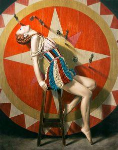 """The Knife Thrower"" Sergio Martinez Cifuentes Dark Circus, Circus Art, Circus Theme, Vintage Circus Performers, Vintage Circus Posters, Circus Birthday, The Circus, Vintage Circus Costume, Circus Acrobat"