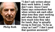 For more information about Philip Roth: http://www.Dailyliteraryquote.com/dlq-literature-magazine/ Courtesy of http://www.DailyLiteraryQuote.com. More quotes and social literary discussions at CulturalBook.com