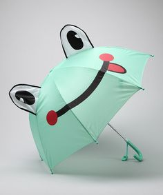 Frais Green Froggy Umbrella: On sale $14.99 #Kids #Frog_Umbrella #Umbrella