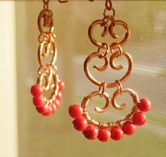 Bombay Earrings  Handmade with copper and door catchalljewelry