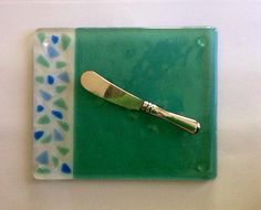 Handmade Fused Art Glass Cheese Plate by chelkay. Get Super Bowl Ready!!!