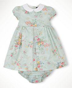 Easter - Ralph Lauren Baby Girls Collared Spring Floral Dress