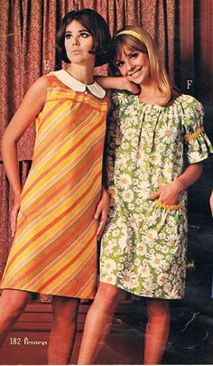 Penneys catalog Colleen Corby and Cay Sanderson. 60s And 70s Fashion, Teen Fashion, Retro Fashion, Vintage Fashion, Fashion Trends, Vintage Style Dresses, Vintage Outfits, Vintage Clothing, 20th Century Fashion