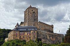 Hrad Kost | Český ráj Order Of The Dragon, Manor Houses, Beautiful Castles, Building Materials, Tower Bridge, Czech Republic, Medieval, Island, God