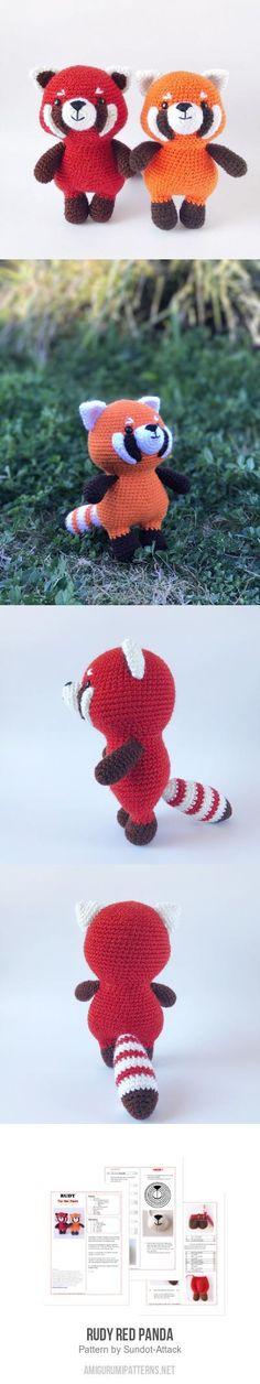 Rudy red panda amigurumi pattern