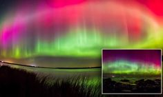 Stunning video of the Northern Lights in Britain #DailyMail
