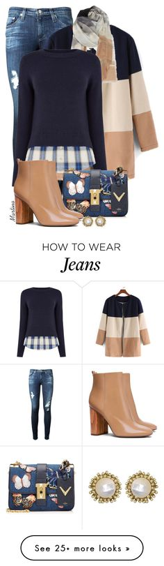 """""""Untitled #2372"""" by martina-cciv on Polyvore featuring AG Adriano Goldschmied, Nordstrom, Oasis, Valentino, Tory Burch, Kendra Scott, women's clothing, women, female and woman"""