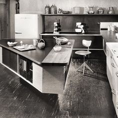 Girard's Fisher Road Home / Kitchen, Grosse Point, Michigan, 1940's