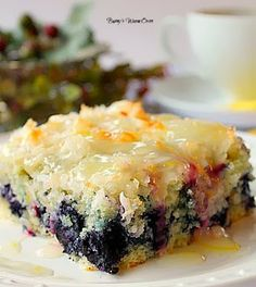 Bunny's Warm Oven: Coconut Blueberry Cake from scratch. Looks yummy good!