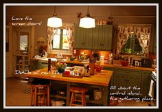 Zeke & Camille's kitchen #Parenthood - love the 'homey' feel of this kitchen.