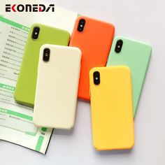 EKONEDA Plain Candy Case For iPhone 7 Case Matte Plastic Cover For iPhone XS Max XR X 7 8 6 6S 7Plus 8Plus Case Funda Outfit Accessories From Touchy Style. | Free International Shipping. Iphone 7 Phone Cases, Best Iphone, Iphone 11, Apple Iphone, Cute Cases, Cute Phone Cases, Cartoon Rose, Graphic Quotes, Iphone Models