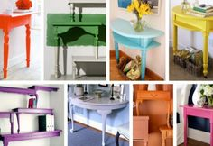 Cut-in-half table DIY~~~Sooo many ideas and awesome tutorials, must check out further!