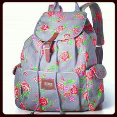 Victoria secrets backpack. So cuteeee.