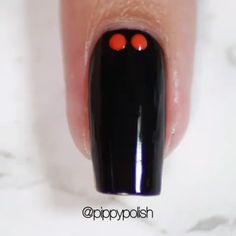 Super easy nail art by Nail Art Designs Videos, Cute Nail Designs, Cute Nails, Pretty Nails, Nail Polish Art, Easy Nail Art, Nail Tutorials, Nail Trends, Nail Arts