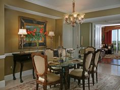 Formal traditional dining.  Treiste at Bay Colony | Pelican Bay, Naples, Florida