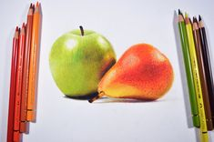 Drawing fruits with colored pencils is a joy!! especially when it is with colored pencils like polychromos. But throughout the drawing i terribly missed the creamy paintery consistancy of the prism...