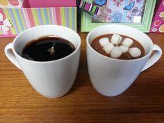 Vela taza de Chocolate caliente o café de gres